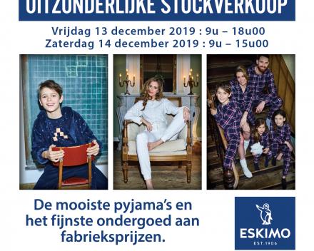 Eskimo stockverkoop op 13 en 14 juni 2019