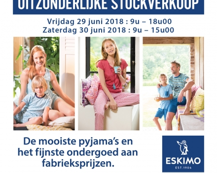 Eskimo Stocksale op 29 en 30 juni 2018