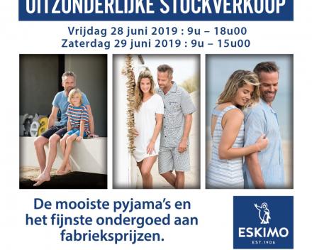 Uitzonderlijke stockverkoop Eskimo: 28 en 29 juni 2019